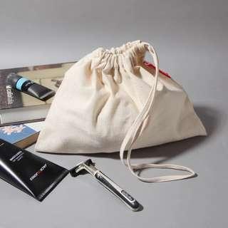 Coleman 原生態米色純棉帆布袋抽繩束口袋收納袋