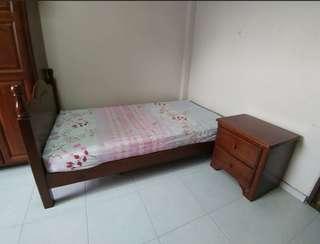 Bed frame ( Rubberwood)