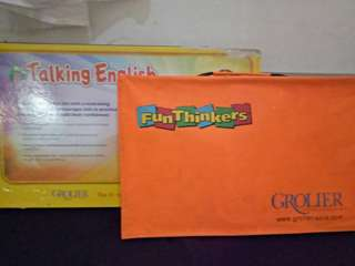 REPRICED!!!!   Grolier Talking English and FunThinkers Complete Set
