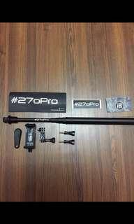 二手270Pro超長自拍桿 Gopro配件 消光黑