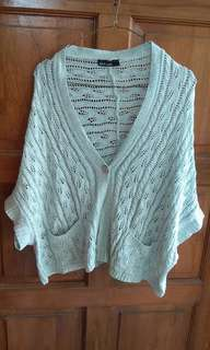 Grey Knitted Batwing Cardigan