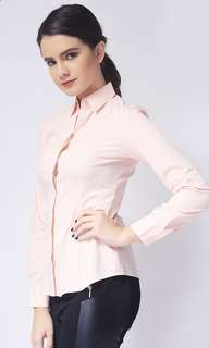 Ladies Shirt Long Sleeve Woven with Collar
