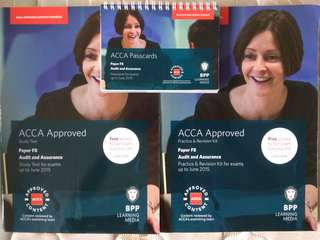 ACCA BPP F8 Audit & Assurance textbook, practice kit and passcards