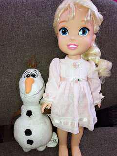 Elsa and olaf doll