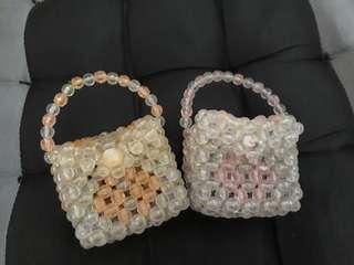Handmade beads bag
