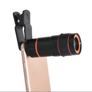 Clip on 8x optical zoom Telescope Camera Lens for mobile phones