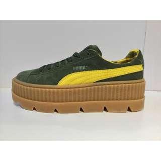 🔴私物🔴PUMA fenty Rihanna 雷哈娜 墨綠綠色蘇格蘭紋厚底鞋