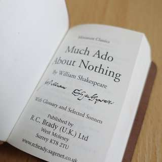 Shakespeare : Much Ado About Nothing