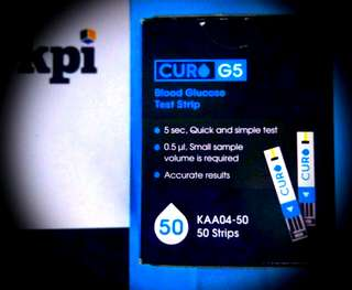 CURO G5 (KAA04-50) 50x Blood Glucose Test Strips.