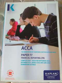 ACCA KAPLAN F7 Financial reporting textbook