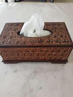 Myanmar lacquer tissue box