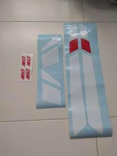 Vespa gts super 300 sticker and rim sticker for sale