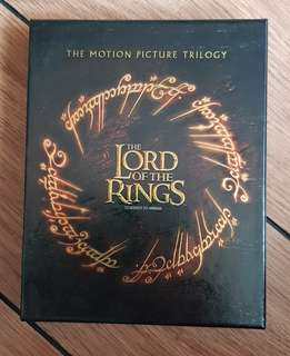 Lord of the Rings Trilogy blueray 9 disc
