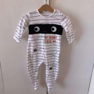 Halloween Mummy Bodysuit 6-9mos