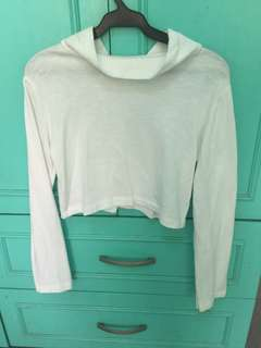 Long sleeves cropped top (good condition)