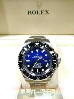 Rolex 116660 DEEPBLUE 亂碼藍光  全套齊 2015錶 95%極新淨