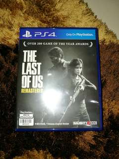 PS4 The Last Of Us Remastered GAME CASING ONLY!!