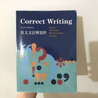 Correct Writing 英文文法與寫作