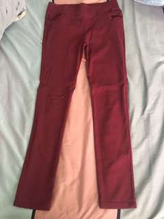 Red stretchable pants (good condition)