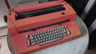 Red Vintage IBM Typewriter (electric)