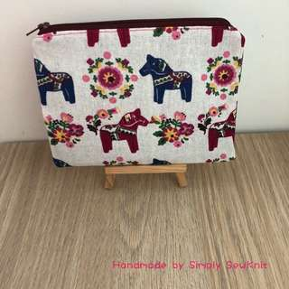 'Floral and Horses' Multi Purpose Pouch
