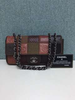 Chanel patch work cc logo bag