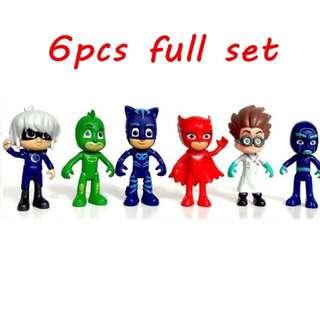Pj masks figurine collection or cake decoration set of 6 pcs