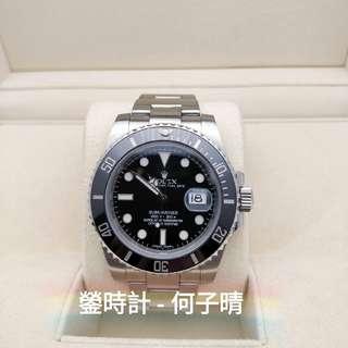 Rolex 116610 黑十 藍光  全套齊 92%新淨 行貨888