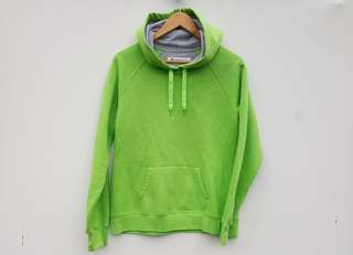 FREE POST Champion × Lime Green Hoodie - Men's S - Women's M