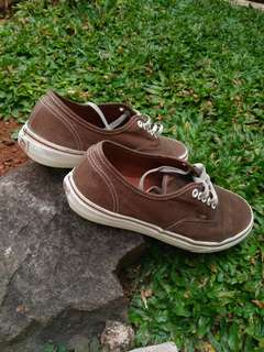 Vans authentic brown kondisi 90% size 42