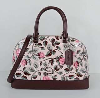 Coach Mini Sierra Blush Pink Rose Patent Oxblood