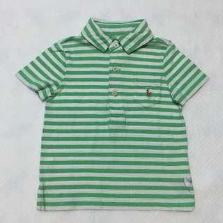 Ralph Lauren Green Stripes Polo Shirt