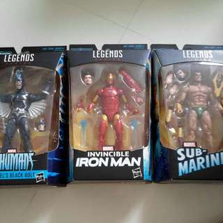 Marvel Legends Okoye Set Iron Man Invincible Sub Mariner Namor Black Bolt Misb