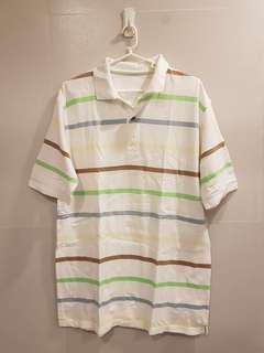 Marks and Spencer White Polo Stripes