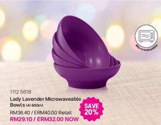 Tupperware Lady Lavender Bowl