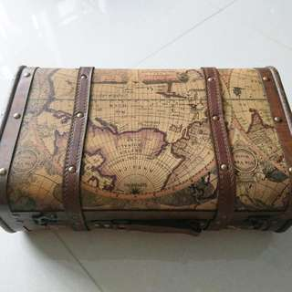 Vintage World Map Box (Rental)
