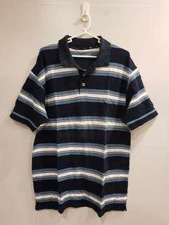 Marks and Spencer Navy Blue Polo Stripes
