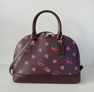 Coach Sierra Large Wildflower Print Oxblood
