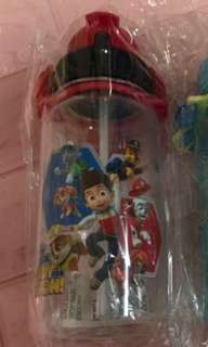 🚚 Instock Paw Patrol bottles 400ml brand new straw type