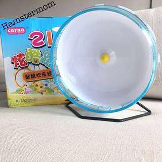 Hamster 21cm Running Wheel with Stand (Blue)