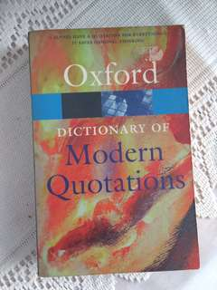 Dictionary of Modern Quotations