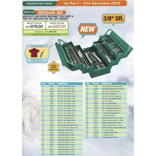 Sata 95104-80 Mechanic Tool Set, 80pcs