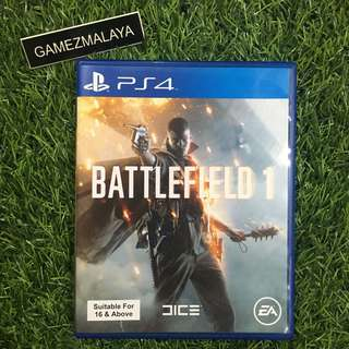 [USED] PS4 -BATTLEFIELD 1 (GAMEZMALAYA)