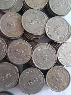 5 cents singapore x 164
