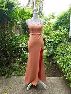 Peach Neoprene Dress
