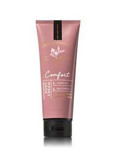 BN Bath & Body Works Aromatherapy COMFORT - VANILLA & PATCHOULI Body Cream 226g