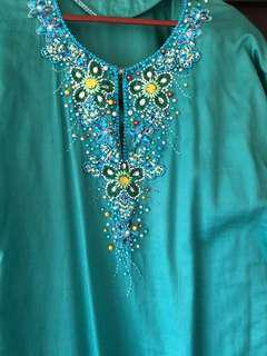 Baju Kurung Cotton beaded