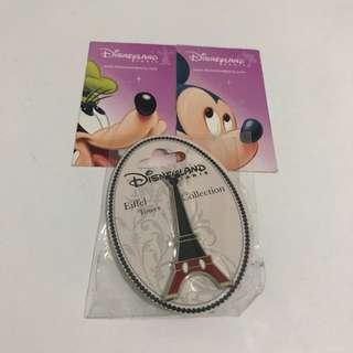 法國迪士尼巴黎鐵塔紀念品連收藏門票2張