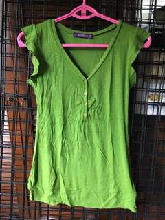 Jellybean green stretchable top