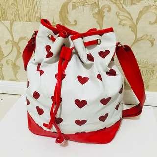 Love Drawsting Bag [Tas Serut Hati]